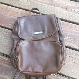 Brown mini backpack purse